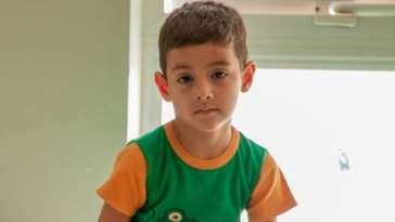 Picture of the boy posted by the governor on his official Facebook page