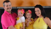 Chris Watts with his wife, Shanann, and two daughters